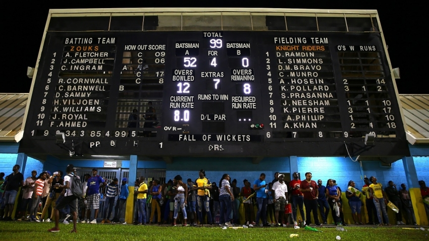 Zouks, Trinbago share spoils after rain intervenes