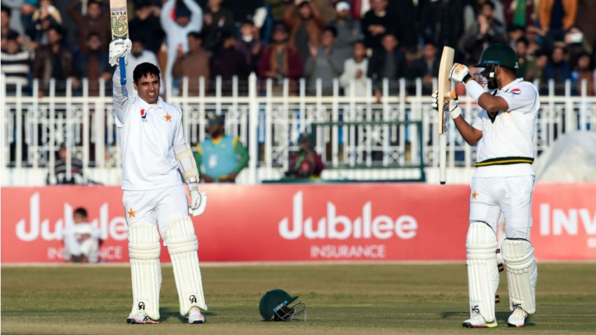 Abid Ali makes history on debut, Babar Azam dazzles in Rawalpindi draw
