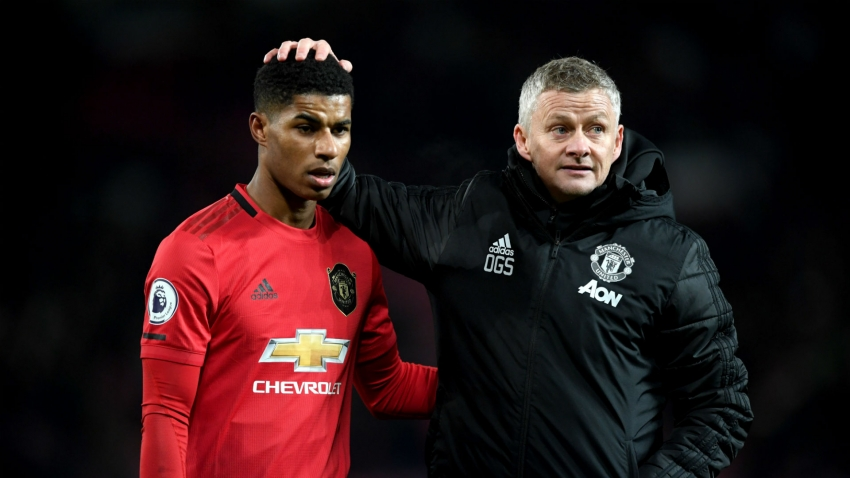 Rashford in good spirits despite injury lay off - Solskjaer