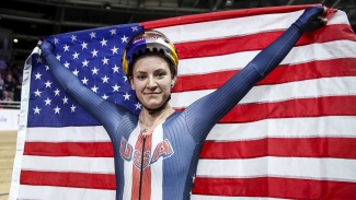 Dygert delights to win individual pursuit in record-breaking time