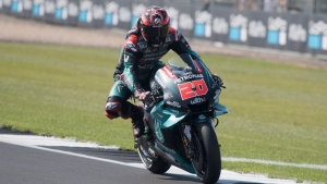 Quartararo ready to 'keep pushing' after Silverstone crash