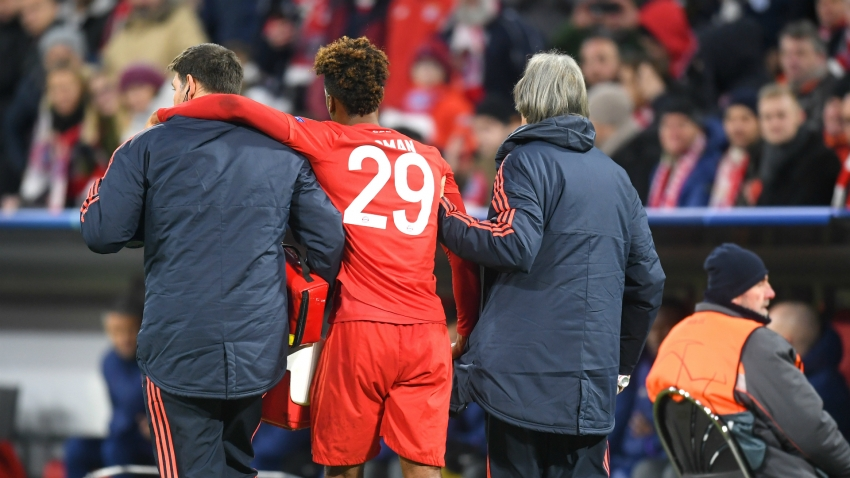 Coman suffers no serious knee damage