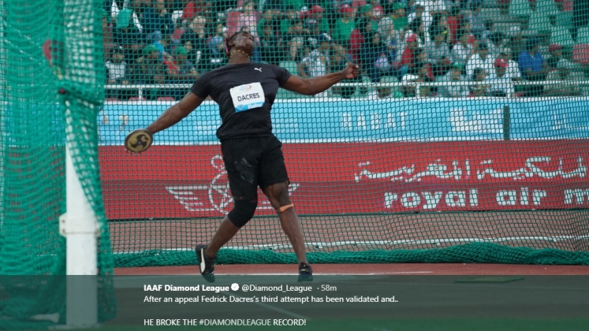Dacres smashes national record with massive throw in Rabat
