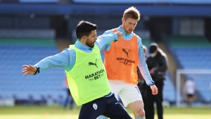 De Bruyne and Aguero return to Man City training ahead of EFL Cup final