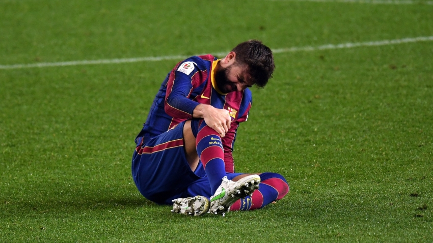 Pique a doubt for PSG clash after spraining knee ligament in Copa win