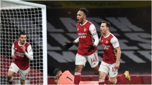 Aubameyang hits 200th goal in Europe's 'top five' leagues and first Premier League hat-trick