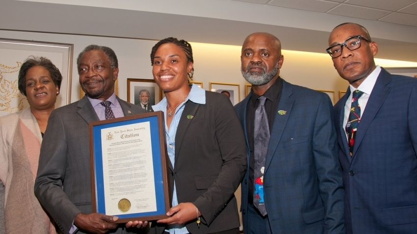 Reggae Girlz hero Nicole McClure honoured in New York