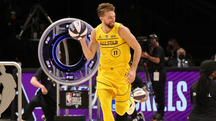All-Star Game: Pacers' Sabonis upstages Doncic and Paul in NBA Skills Challenge