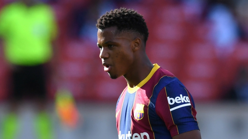 Barcelona star Ansu Fati undergoes 'regenerative biological treatment' of knee injury