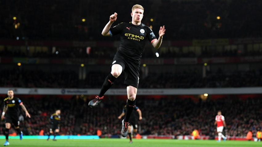 Arsenal 0-3 Manchester City: Peerless De Bruyne inspires emphatic victory