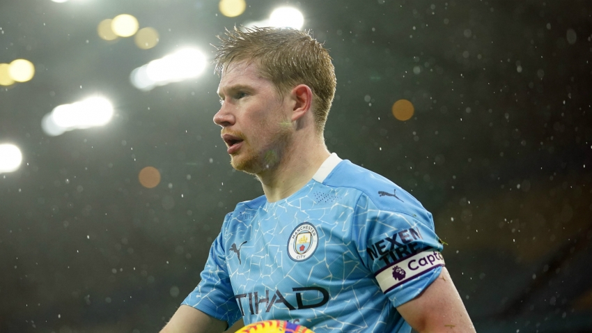 De Bruyne could miss up to six weeks, Guardiola confirms