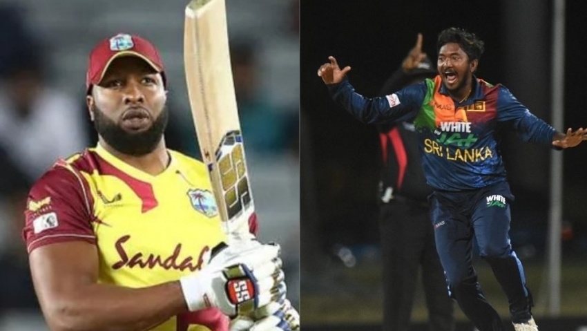Pollard hits six sixes in an over as West Indies win a wild one in Antigua