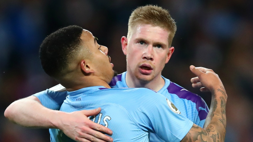 De Bruyne can make three or four assists a game - Jesus lauds Man City's main man