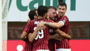 Milan 2-0 Roma: Red-hot Rebic and Calhanoglu strike late