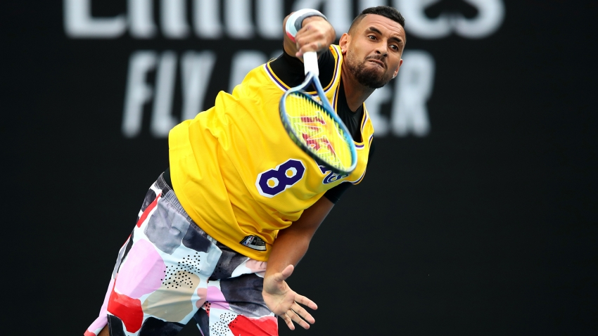 Kobe Bryant dead: Kyrgios warms up in Lakers great's jersey before Nadal clash