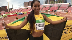 Jamaican sprinter Briana Williams.