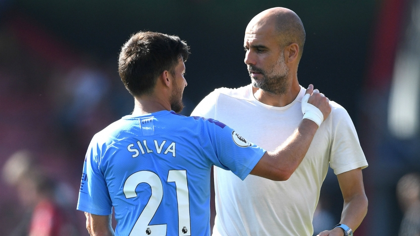 Guardiola lauds Silva as 'one of the best I've seen' after reaching Man City milestone
