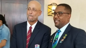 Former CWI boss Dave Cameron (left) and challenger Ricky Skerritt ahead of the organisation's elections.