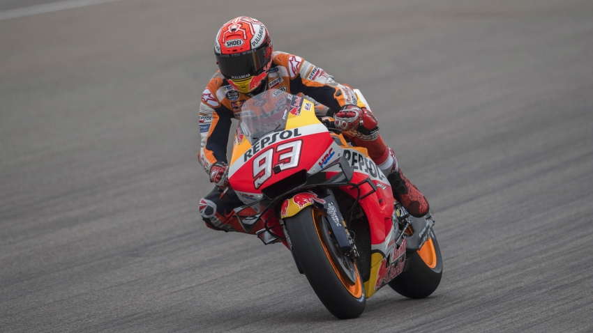 Marquez takes 10th straight Sachsenring pole, Dovizioso out in Q1