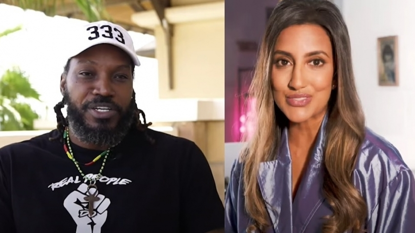 Chris Gayle and Avina Shah mix it up for Groove music video