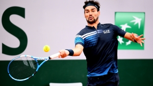 Fognini's title defence ended by in-form Fritz