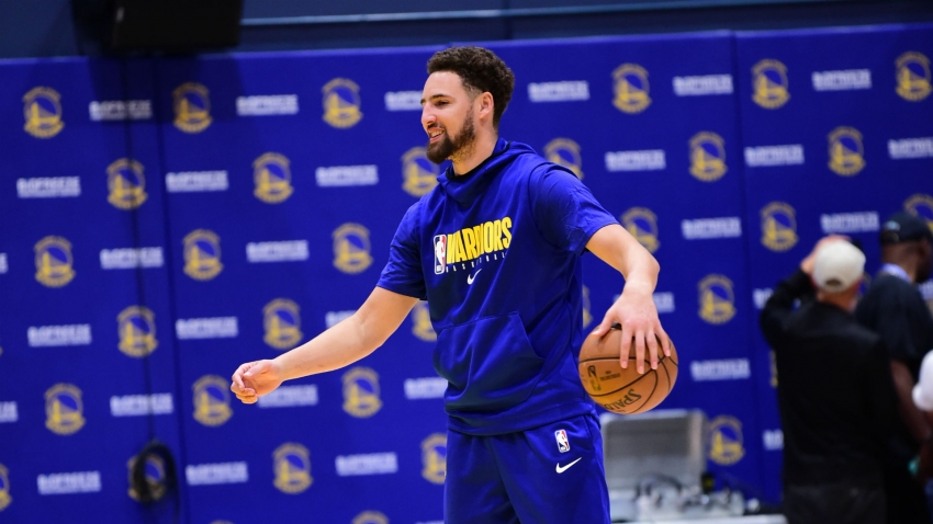 Klay Thompson in first full Warriors practice since ACL tear