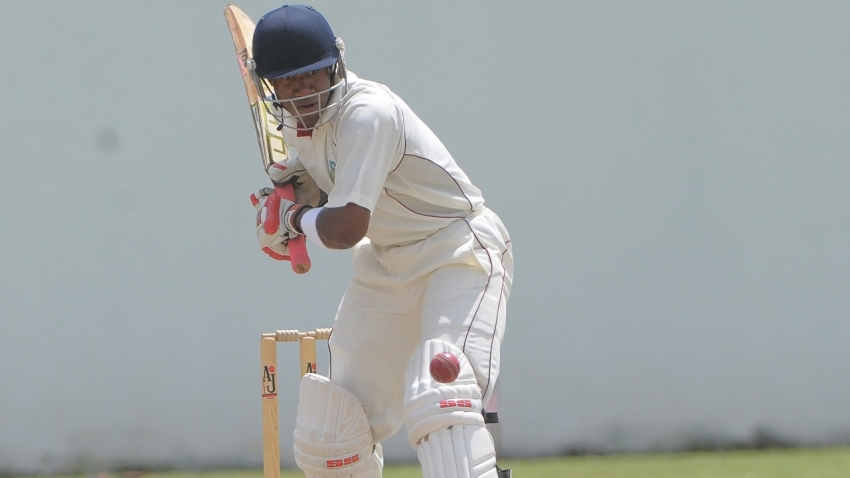 Windward Islands Volcanoes batsman Kavem Hodge is on 65 not out.