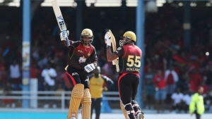 Trinbago Knight Riders batmen Denesh Ramdin and Kieron Pollard.