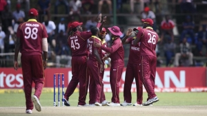Windies in action during ICC World Cup qualification
