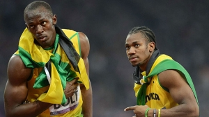Usain Bolt and Yohan Blake.